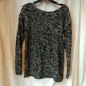 GAP Black/White Scoop Neck Sweater
